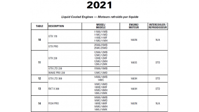 SeaDoo 2021 GTX, RXT series, FISH PRO, WAKE PRO Service Manual