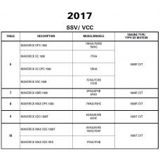 SSV 2017 Maverick Series Service Manual